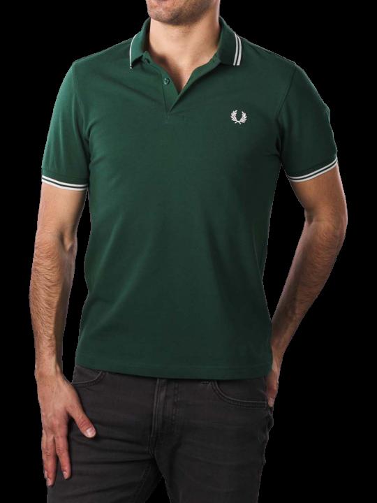 Fred Perry Polo Piqué ivy/snow white  Herren Polo Shirt