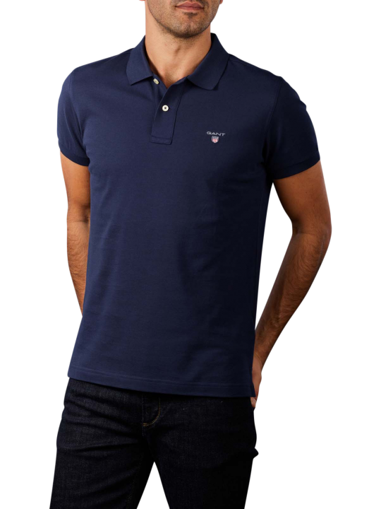 Gant Original Slim Pique SS Rugger Polo Shirt