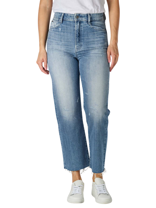 G-Star Ultra High Tedie Jeans Straight Fit sun faded ice fog  Damen Jeans