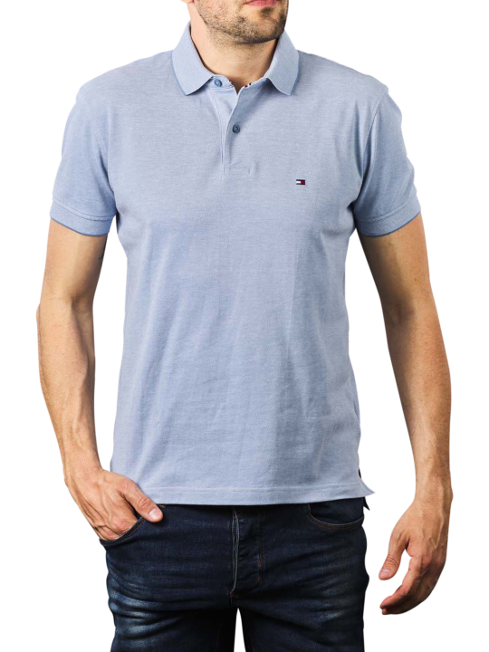 Tommy Hilfiger Oxford Regular Polo colorado indigo  Herren Polo Shirt