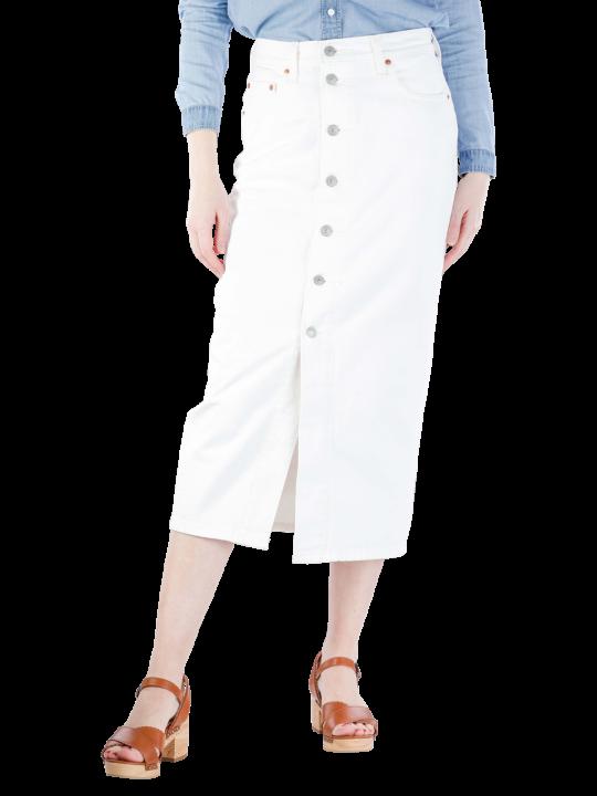 Levi's Button Front Midi Skirt