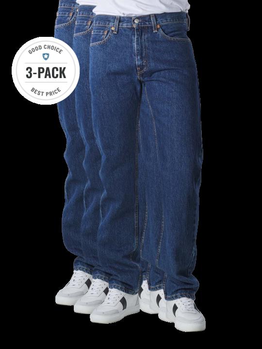 Levi's 505 Jeans Straight Fit dark stonewash 3-Pack  Herren Jeans