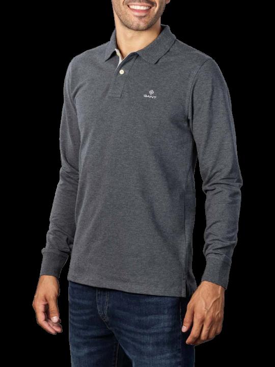 Gant Contrast Collar Pique LS Rugger Polo
