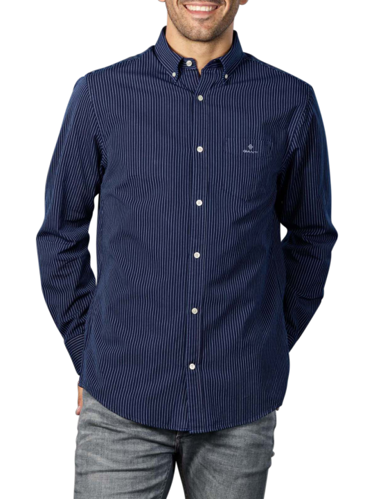 Gant D1 Indigo Pinstripe Reg BD Shirt
