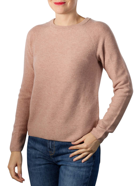 Yaya Mix Ribbed Round Neck Sweater