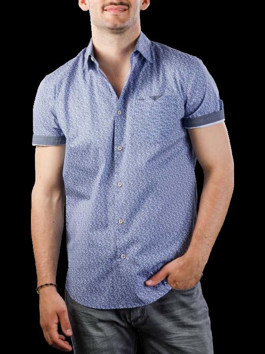 Vanguard Short Sleeve Shirt Print On Poplin Stretch