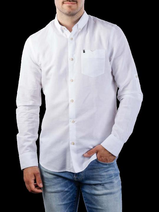 Vanguard Long Sleeve Shirt Cotton Linen 2 Tone
