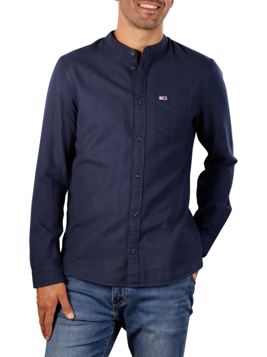 Tommy Jeans Solid Flannel Mao Shirt