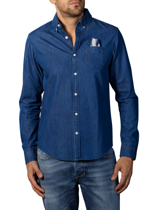 Scotch & Soda Ams Blauw Denim Shirt