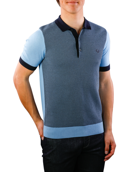 Fred Perry Two Colour Knitted Shirt