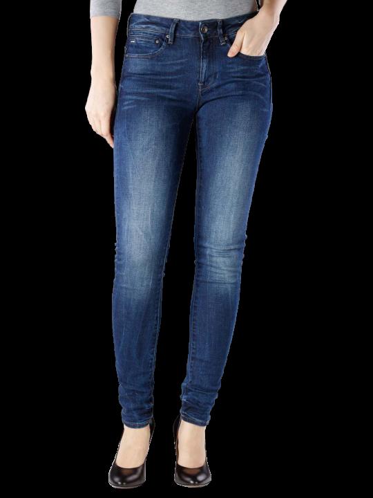 G-Star Midge Zip Mid Skinny Jeans Skinny Fit  Damen Jeans