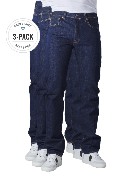 Levi's 501 Jeans Straight Fit 3-Pack