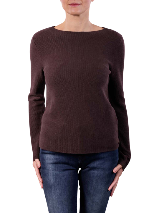 Marc O'Polo Long Sleeve Boat Neck Pullover