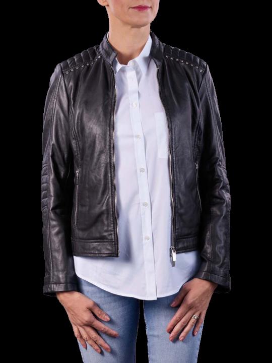 Milestone Blomma Leather Jacket Black