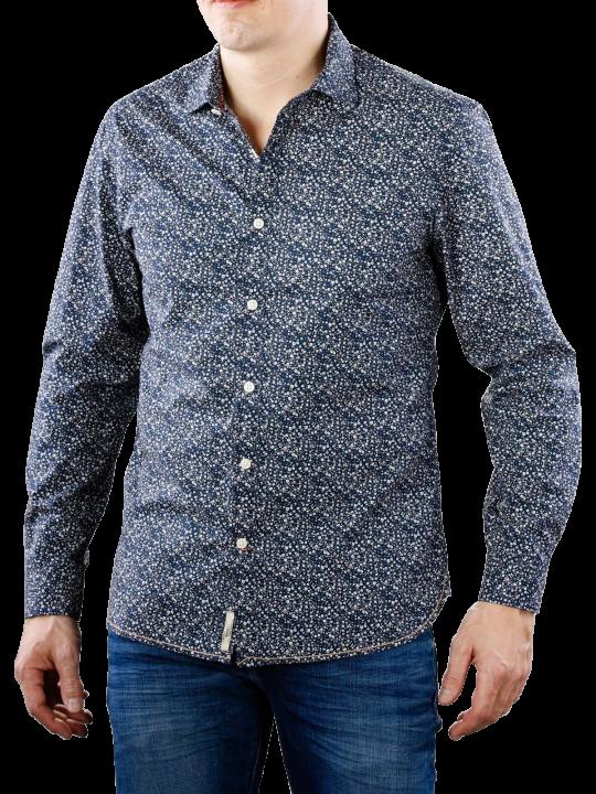 Pepe Jeans Kris AOP Poplin blue  Herren Hemd
