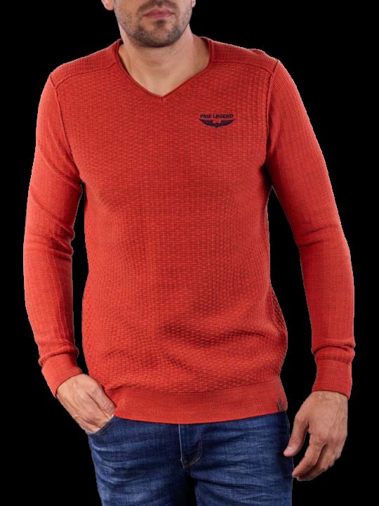 PME Legend V-Neck Cotton Mouline Knit  Herren Pullover