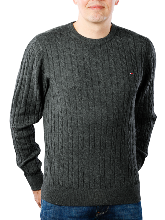 Tommy Hilfiger Classic Cotton Blend Cable Crew  Herren Pullover