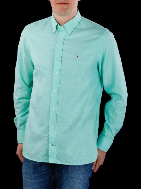 Tommy Hilfiger Cotton Linen Dobby Shirt  Herren Hemd