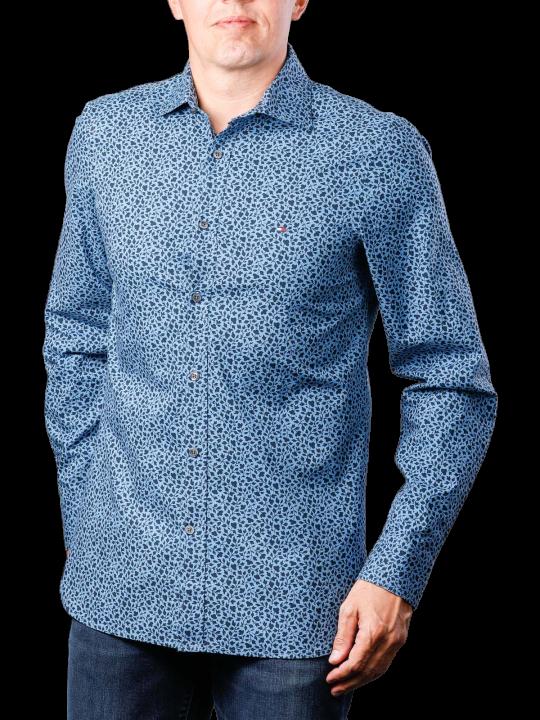 Tommy Hilfiger Slim Ivy Leaf Print Shirt  Herren Hemd