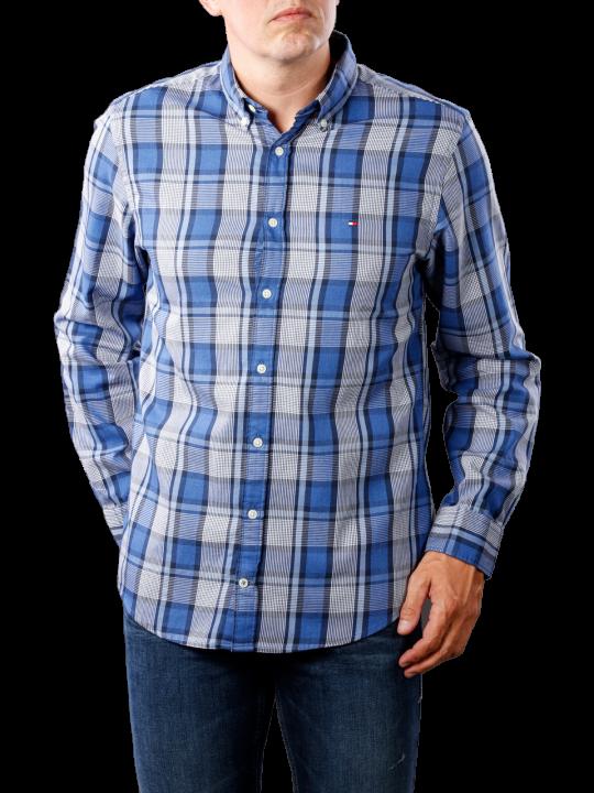 Tommy Hilfiger Midscale Heathered Check Shirt blues  Herren Hemd
