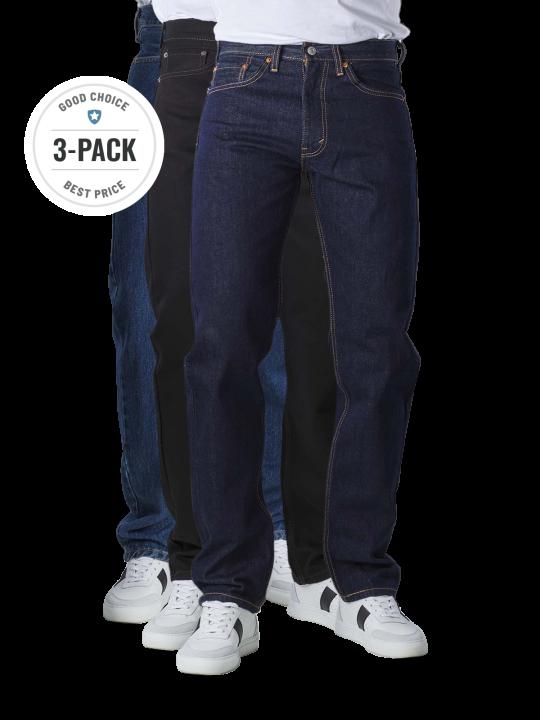 Levi's 505 Jeans Straight Fit stonewash/rinse/black Trio  Herren Jeans